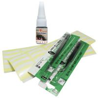 Eyelash Glue   Free Shipping Eyelash Extension Smell-less Glue 200 Pairs Extension Tape Remover Tweezer Kit Set Salon Tool,IB-EyelashKit-08set