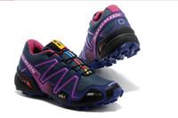 Wholesale Hot women Running shoes Salomon Solomon SALOMON SpeedCross CS Waterproof Cross country EUR USA Running shoes