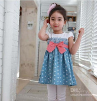 TuTu Summer A-Line - Children dress His chest bowknot short sleeve girls drdress girl dress baby dress asdy 4pcs lot asdyj