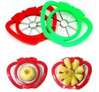 Plastic apple parer - High Quality Fruit Apple Pear Corer Slicer Peeler Cutter Parer Knife Kitchen Tool Stainless Steel fruit slicer Random Color