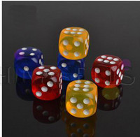 erotic toy - 14MM KTV bar game multicolor transparency games gambling dice toys adult game dice sex erotic lovers dice creative gift party dices