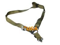 KUGA airsoft gun - Airsoft Hunting M4 Nylon Quick Detach Mission System Elastic Strap Bunge Snap Hook Sling Guns Shooting Safety rope Army green