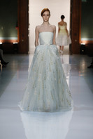 Cheap A-Line New 2014 Wedding Dresses Best Reference Images Strapless Runway Prom Evening Dress
