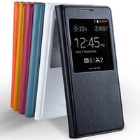 S vista Flip funda con la ventana abierta puerta de batería carcasa tapa trasera para Samsung Galaxy S5 I9600 Retail paquete cajas del teléfono celular