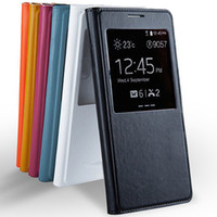 S View Flip Leather Case with Open Window Battery Door Housi...