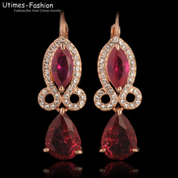 Water Drop Earrings Red Crystal Women Top Quality