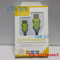 Wholesale Fabric Braided m USB Charger Cable Wire Mesh Data Sync Charging Cord Nylon Extension Lead For Samsung S5 Note3