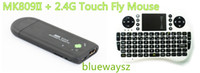 Wholesale HOT MK809II G Touch Fly Mouse Dual Core Dongle Android ICS Mini PC G G Bluetooth Support Mobile Phone Remote Control Smart TV Box