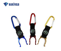Carabiner Backpacking 0.22 Bluefield Backpack Extenders Carabiner Clip with Compass For Water Bottle Aluminum