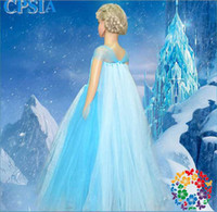 5pcs lot Frozen Ice Snow Princess Dress Short Sleeve Lady Sp...