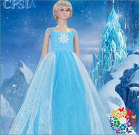 Frozen Ice Snow Princess Dress Short Sleeve Lady Sparkling L...