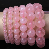 Wholesale Charm natural Genuine AAAA Rose Quartz Crystal Stone Round Shape Beads Stone Bracelets Jewelry mm mm mm