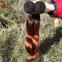 Brazilian Hair Natural Wave 100% Brazilian virgin hair Hot Selling Two Tone 5A Ombre Color Virgin Hair Brazilian Body Wave Human Hair Extensions 3Pcs 100% Remy Hair Weave Weft DHL Free Shipping