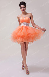 Wholesale Stock Strapless Voile Ball Cocktail Evening Prom Party Dress Size US CL4793