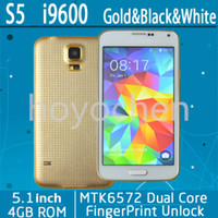 Wholesale 2014 new phone Full MTK6572 S5 I9600 Phone Android OS Dual Core Screen Resolution G GPS MP Camera Fast Ship