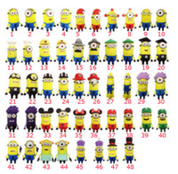 No USB 2.0 Plastic 10 pcs Minions Shape Real Capacity 64GB 32GB 16GB USB Flash Drive Memory Stick Pen Drive