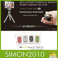 Wholesale Camera AB Bluetooth Remote Shutter remote shutter remote control self timer using accessories for mobile phone
