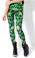 Wholesale Women Galaxy Leggings Black Milk Leggings Plus Size Woah Dude Pants Leggings Cannabis Marijuana Weed Leaf Leggings ZO63