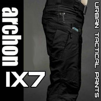 Men american grid - IX7 Hot new European and American Training pants men s pants Army Grid Pants Poly Cotton Ripstop Teflon Waterproof