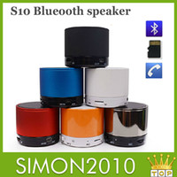 Wholesale Magic S10 Wireless Bluetooth speaker with a light Mini TF SD Card With MIC handsfree metal Music Speaker for mobile phone PC MP3 Free ship