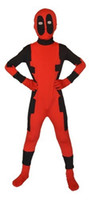 Wholesale Superior quality Fancy kids dress party lycra spandex zentai costume deadpool