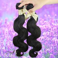 Wholesale 8 inch Bundles Brazilian Virgin Hair Human Hair Weaves Hair Extensions Body Wave Wavy Natural Color