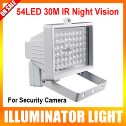 Wholesale 30m LED V W Night Vision IR Infrared Illuminator Light lamp LED Auxiliary lighting For Security CCTV Camera