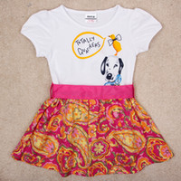 Wholesale China direct kids clothes Nova brand cute baby dress animals amp birds printed girl dress floral short sleeve dress H4906