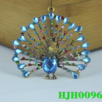 Wholesale STOCK fashion peacock pendant for keychain jewelry necklace scarves diy Jewelry Findings charms HJH0096