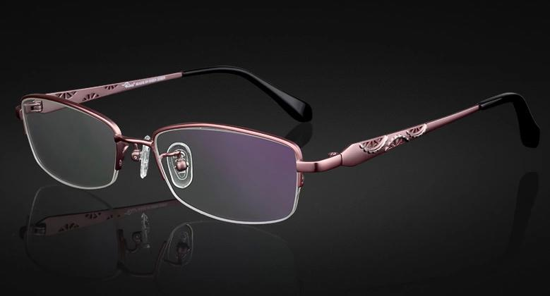 titanium eyewear  New Titanium Eyeglass Frames Pink Or Purple Color Womens Lady Eye ...