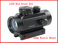 Wholesale Hunting Tactical x30 Red Green Dot Sight Scope w mm mm Weaver Mounts Optical Airsoft Riflescopes