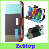 apple flap - Galaxy S5 V i9600 Leather Magnetic Flap Wallet Case for iPhone Samsung S4 S5 S6 S7 NoteII