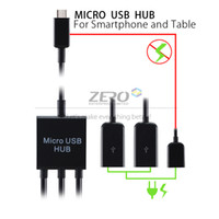 HTC,Samsung,Motorola,Toshiba,Panasonic,B Micro USB OTG Hub Yes Micro USB Male to 2 USB Female & 1 Micro USB Female OTG Hub Adapter Cable for Samsung Galaxy S3 S4 S5 Note 2 3 Smartphone Tablet