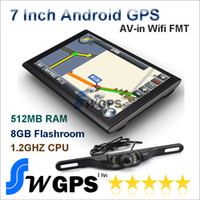 Wholesale 7 inch car tablet GPS Navigation System A13 GHZ Wifi AVIN FM DDR3 GB Android OS Night version wireless car rear view camera