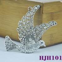 Wholesale wholesal stock diy Jewelry Findings diamonds crystal dove diy pendant use on keychain charms jewelry necklace scarves HJH101