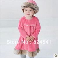 TuTu Summer Straight free shipping 2013 new utumn and winter long sleeve dress baby dress baby fleece Rose autumn dress baby girl dresses china