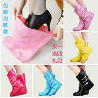 Half Boots Rain Boots Women 2014 Brand New Women Fashion Rain Boots Cover Thickening Bearcat Slip-resistant Rainboots Set Water Shoes Jelly Colors #TS48
