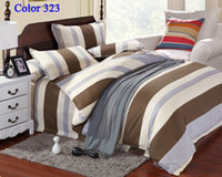 Knitted bedcover sets - Home Textiles Stripe Bedding set Duvet Cover Bedclothes Twin Full Queen king Size Bedlinen Bedcover bedsheet Pillowcase Free