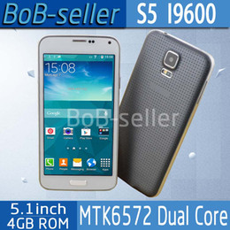 Wholesale 1 USB3 S5 MTK6572 G900 Smart Phone Perfect Inch IPS Dual Core MP Healthcare I9600 Mobilephone Android4 Fingerprint Multilanguage