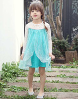 20pcs lot 2014 New Baby Frozen Dress Girl Elsa Dress Girls P...