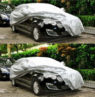 Wholesale Silver Universal Light Weight Car Cover Anti Snow Sun Rain Dust Car Case Cover
