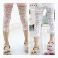 Leggings & Tights new design pants - New Design Summer Girls Splice Lace Hollow th Pants Leggings Kids Clothing All match Pringcess Long Tights Childs High Quality Botoom H0691