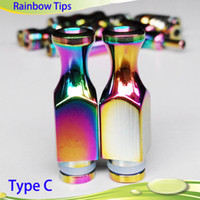 Plastic best bullet - 2014 Best Beautiful Rainbow Drip Tip Stainless Steel Long drip tip Bullet Drip Tips Gourd Mouthpiece for EGO Atomizer E Cigarette