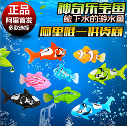 Wholesale 1405c Intelligent machines clown fish induction electric motor live fish turbot fish swimming toys magical music