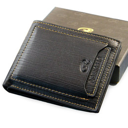 Wholesale Exports New style mens brand designer leather luxury purse wallet short cross high quality wallets for men