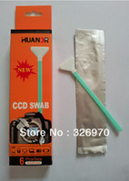 Wholesale New Dry Sensor Optics Lens Cleaner Full Frame CMOS CCD SWAB for Filters Camera CCD Swab Cleaning Stick box