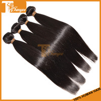 100g Peruvian Hair Natural Color Soft And Natural 5A+ Peruvian Silky Straight Hair Unprocessed Virgin Human Hair Weaving 3 Bundles Lot Black Color 1B# Can Dye And Bleach