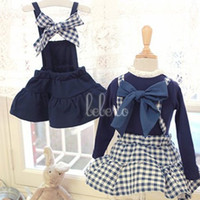 Wholesale New Fashion Girls Back Butterfly Checkered Dresses Dress Birthday Party Dress Korean Children s Clothes