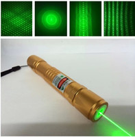 Wholesale true High power mw nm Green Laser Pointers waterproof adjustable star burn black match by china post air mail
