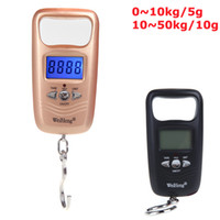 Wholesale Digital Pocket Electronic Hanging Scale Double Precision Weight Hook LCD Display kg Black